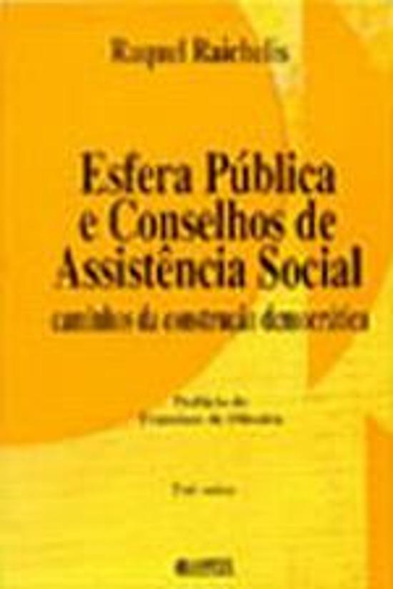 ESFERA PUBLICA E CONSELHOS DE ASSISTENCIA SOCIAL -