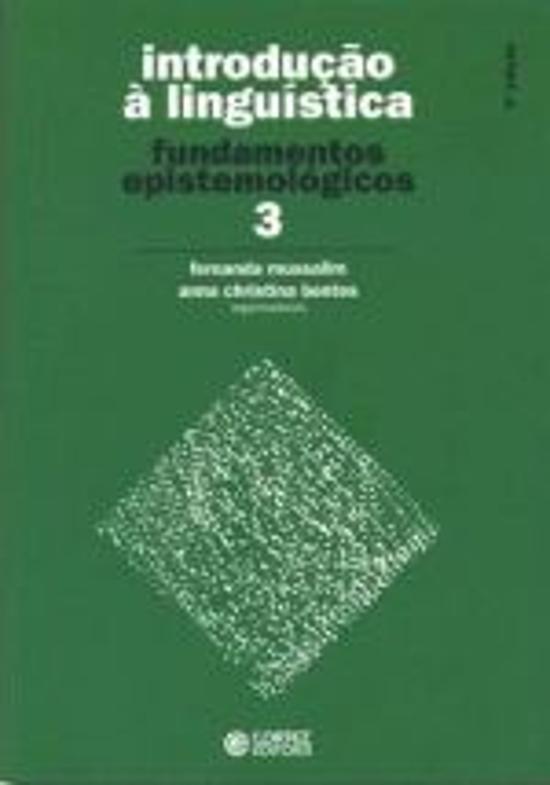 INTRODUCAO A LINGUISTICA - V. 03 - FUNDAMENTOS EPI