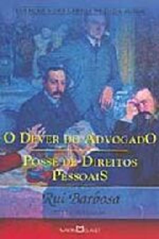 DEVER DO ADVOGADO - POSSE DE DIREITOS PESSOAIS