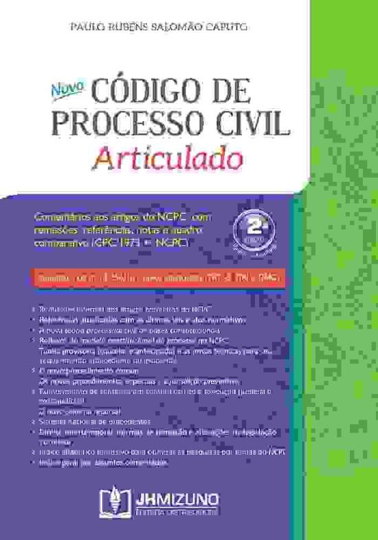NOVO CODIGO DE PROCESSO CIVIL - ARTICULADO